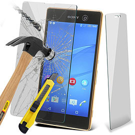 N4U - Genuine Premium Tempered Glass Film Screen Protector for Sony Xperia M5 Mobile phones