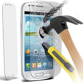 N4U - Genuine Premium Tempered Glass Screen Protector for Samsung i8190 Galaxy S3 Mini Mobile phones