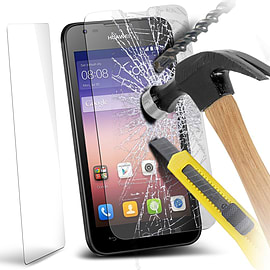 N4U - Genuine Premium Tempered Glass Screen Protector Film for Huawei Ascend Y550 Mobile phones