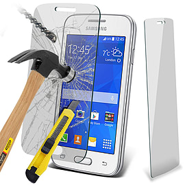 N4U - Genuine Premium Tempered Glass Film Protector for Samsung Galaxy Trend 2 Lite Mobile phones