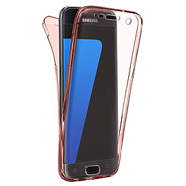 N4U - Shockproof 360? TPU Gel Protective Rose Gold Transparent Case Cover For Sony Xperia M5 Mobile phones