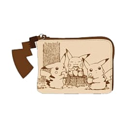 Pokemon - Pikachu Sepia Graffiti Coin Purse Clothing