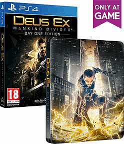 Deus Ex: Mankind Divided Steelbook Edition PS4 Cover Art
