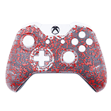 Xbox One Controller: 3D Splash Red & White screen shot 5