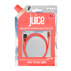Juice Apple Lightning Cable - Colour: Pink Audio