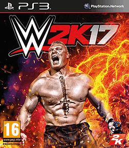 WWE 2K17 PS3 Cover Art