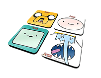 Adventure Time faces jake finn new Official 4 x Coaster Set in presentation boxSize: screen shot 1