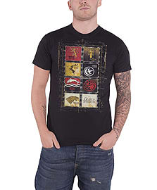 Game Of Thrones House collection stark Official Mens black T ShirtSize: M Clothing