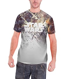 Star Wars T Shirt Tie Fighter dog fight Official All over print sub dye slim fitSize: L Clothing