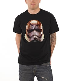 Star Wars T Shirt 7 force awakens Phasma Big Head new Official Mens BlackSize: L Clothing