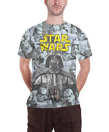 Star Wars T Shirt Mens Darth Vader strormtroopers new Official slim fit sub dyeSize: XXL Clothing