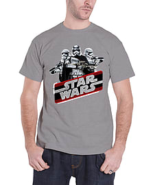 Star Wars T Shirt force Awakens captain Phasma Official Mens New GreySize: S Clothing