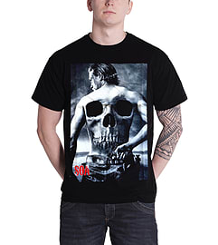 Sons Of Anarchy Jax back skull samcro new Official Mens Black T ShirtSize: S Clothing