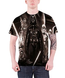 Star Wars T Shirt Vader Memories Official Mens New slim fit All over printSize: S Clothing