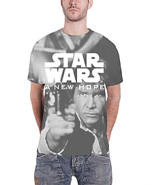 Star Wars T Shirt A New Hope Official Mens New sub dye All Over Print slim fitSize: L Clothing