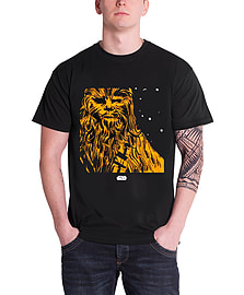 Star Wars T Shirt Chewbacca portrait new hope Official Mens New BlackSize: M Clothing
