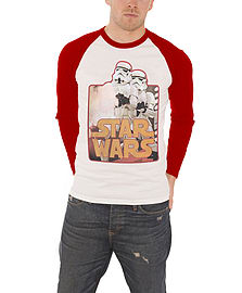 Star Wars T Shirt Stormtroopers classic logo Official New raglan Baseball ShirtSize: XL Clothing