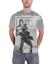 Star Wars T Shirt Return Of The Jedi Official Mens New slim fit All Over PrintSize: S Clothing