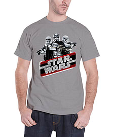 Star Wars T Shirt force Awakens captain Phasma Official Mens New GreySize: XL Clothing