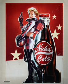 Fallout 4 Nuka Cola Mini Poster 40x50cm Posters