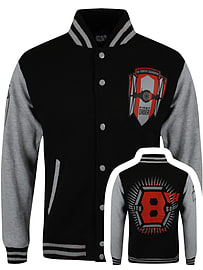 Star Wars The Force Awakens Tie Fighter Squadron Varsity Black Men's Jacket: Large (Mens 40- 42) Clothing