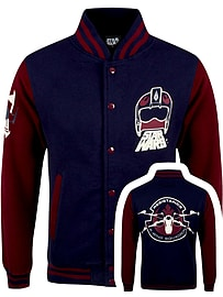 Star Wars The Force Awakens X-Wing Squadron Varsity Navy Men's Jacket: Large (Mens 40- 42) Clothing