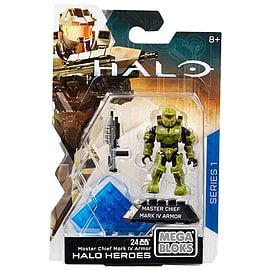 Mega Bloks Halo Heroes Master Chief Mark IV Armor Figure Blocks and Bricks