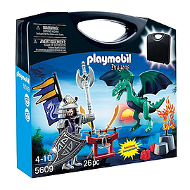 Playmobil Knights Carrying Case Dragon Knight Blocks and Bricks