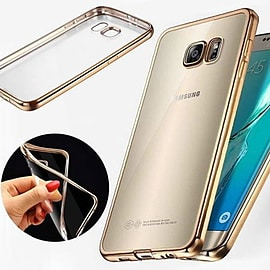 Luxury ShockProof Chrome Silicone TPU Cover Case For Samsung Galaxy S7 S7 Edge Mobile phones