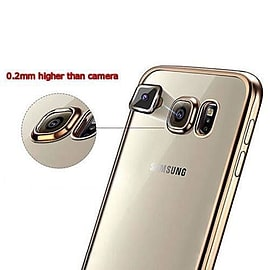Luxury ShockProof Chrome Silicone Bumper Cover Case For Samsung Galaxy S7 S7 Edge Mobile phones