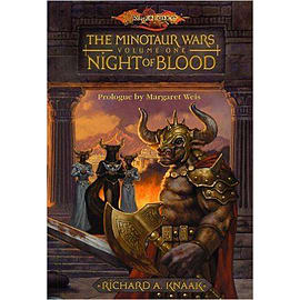 Night of Blood - Minotaur Wars Hardcover - R.A. Knaak Author - DRAGONLANCE D&D Books