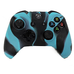 Reytid Xbox ONE Controller Skin Silicone Protective Rubber Cover Gel Grip Case - Black/Blue XBOX ONE