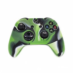 Reytid Xbox ONE Controller Skin Silicone Protective Rubber Cover Gel Grip Case - Green/Black/White XBOX ONE