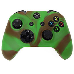 Reytid Xbox ONE Controller Skin Silicone Protective Rubber Cover Gel Grip Case - Green/Brown XBOX ONE