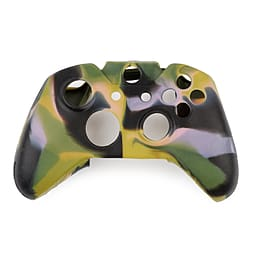 Reytid Xbox ONE Controller Skin Silicone Protective Rubber Cover Gel Grip Case - Black/Green/Yellow XBOX ONE