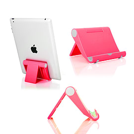 Frostycow Multi-Angle Portable Desk Stand Holder Mount For Apple iPad, Samsung Nexus Pink Tablet