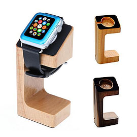 Frostycow Crafted Wooden Docking Station Charger Stand For Apple Watch iWatch 38mm & 42mm Dark Oak Mobile phones