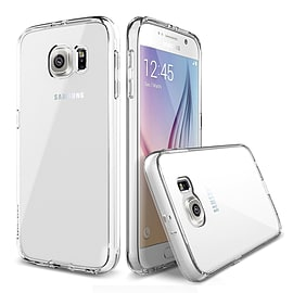 Frostycow Clear Silicone TPU Bumper Cover Case For Samsung S6 Mobile phones