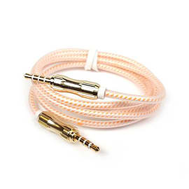Frostycow 3.5mm PREMIUM Braided Aluminium Coloured Jack Lead Ipod Aux Wire Cable Orange Mobile phones