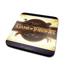 Game Of Thrones Opening Logo Official New Black Coaster (10cm x 10cm)Size: Home - Tableware