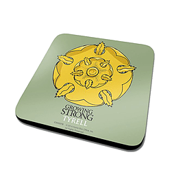 Game Of Thrones House Tyrell Logo Official New Green Coaster (10cm x 10cm)Size: Home - Tableware