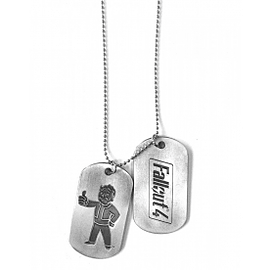 Fallout 4 Logo and Vault Boy Approves Pair of Dog Tags Clothing