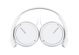 Sony MDR-ZX110 Overhead Headphones with In Line Control - White Audio