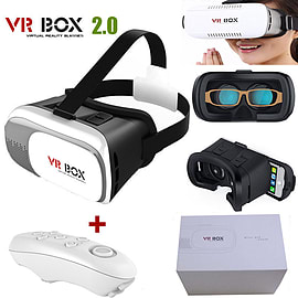 Universal 3D Virtual Reality VR Box Glasses Headset Helmet + Remote for Phone UK Mobile phones