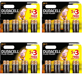 32x Pack NEW Duracell Plus POWER AA Multi Format and Universal