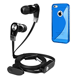 iSOUL Earphone With Microphone Case For iPhone 5C - Blue Mobile phones