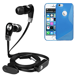 iSOUL Earphone With Microphone Case For iPhone 6 - Blue Mobile phones