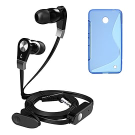 iSOUL Earphone With Microphone Case For Nokia Lumia 630 635 - Blue Mobile phones