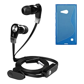 iSOUL Earphone With Microphone Case For Nokia Lumia 730 735 - Blue Mobile phones