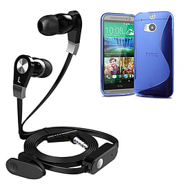 iSOUL Earphone With Microphone Case For HTC One M8 - Blue Mobile phones